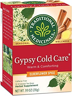 Traditional Medicinals Seasonal Tea, Gypsy Cold Care, 16 CT (Pack of 2)