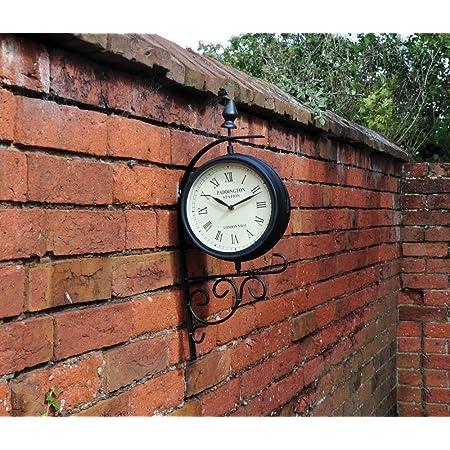Kingfisher Victorian Station Style Garden Clock