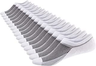 SIXDAYSOX Men's 8 Pairs No Show Odor-Resistant Non Slip Socks Shoe Size 6-11