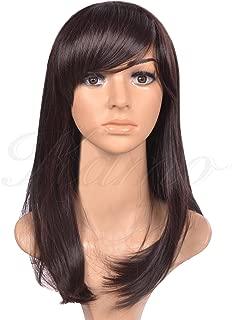 Kamo Dark Brown Side-swept Bangs Shoulder-length Women & Girls Cosplay Party Wig