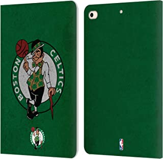 Official NBA Distressed Boston Celtics Leather Book Wallet Case Cover Compatible for iPad Mini (2019)