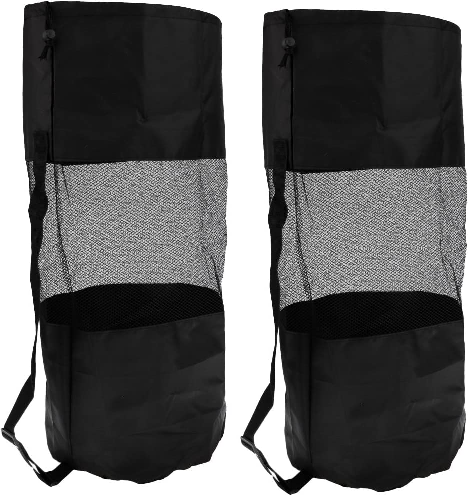 MagiDeal 2Pcs Large Mesh Cheap mail order High order shopping Drawstring Snorkeling Bag Diving Scuba