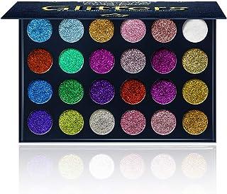 Aolailiya 24 Color Pressed Glitter Eyeshadow Palette - Mineral Ultra Shimmer Makeup Palette Eye Shadow Powder Long Lasting Waterproof
