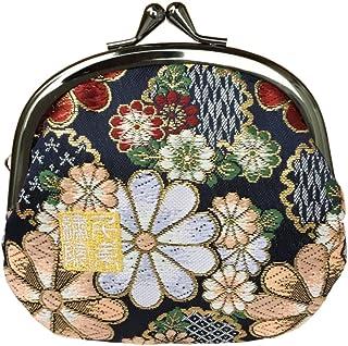千糸繍院 西陣織 金襴 がま口 3.5寸丸型財布/小銭入れ(裏地付き)