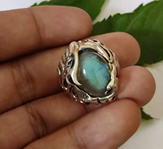 Art ring Labradorite ring Praziolitis Natural Rare stone Wire Pendant Aluminum size 18 wire Jewelry Gift for women Gift for her Beautiful