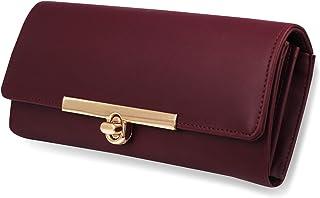 ALSU Women's Maroon Hand Clutch Wallet Purse_LDU-012mar