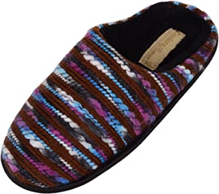 ABSOLUTE FOOTWEAR Ladies/Womens Slip On Slippers/Mules/Indoor Shoes with Multi-Colour Outer