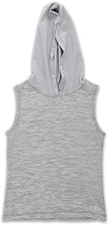 Active Girl's Sleeveless Top with Hoodie