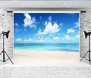Little Lucky 7x5ft(2.2x1.5m) 夏の海の背景子供のための青空ビーチ写真の背景写真家フォトスタジオの背景プロップ
