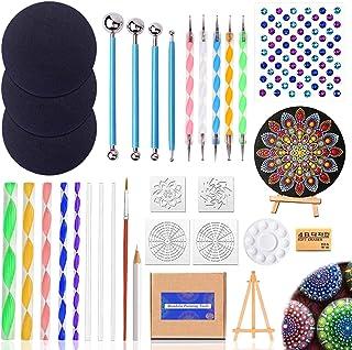 31PCS Mandala Dotting Outils Pinceaux Kit, Outil Pointage d'art d'Ongle Peinture pour Mandala sur Galet Pierre Pointillage...