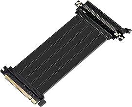 EZDIY-FAB Nuevo PCI Express PCIe3.0 16x Flexible Cable Card Extension Port Adapter High Speed Riser Card (20cm 180 Grados)-Versión de actualización