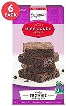 Miss Jones Baking Organic Fudge Brownie Mix, Non-GMO, Vegan-Friendly: Rich Cocoa (Pack of 6)