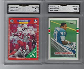 Amazoncom Barry Sanders Rookie Card