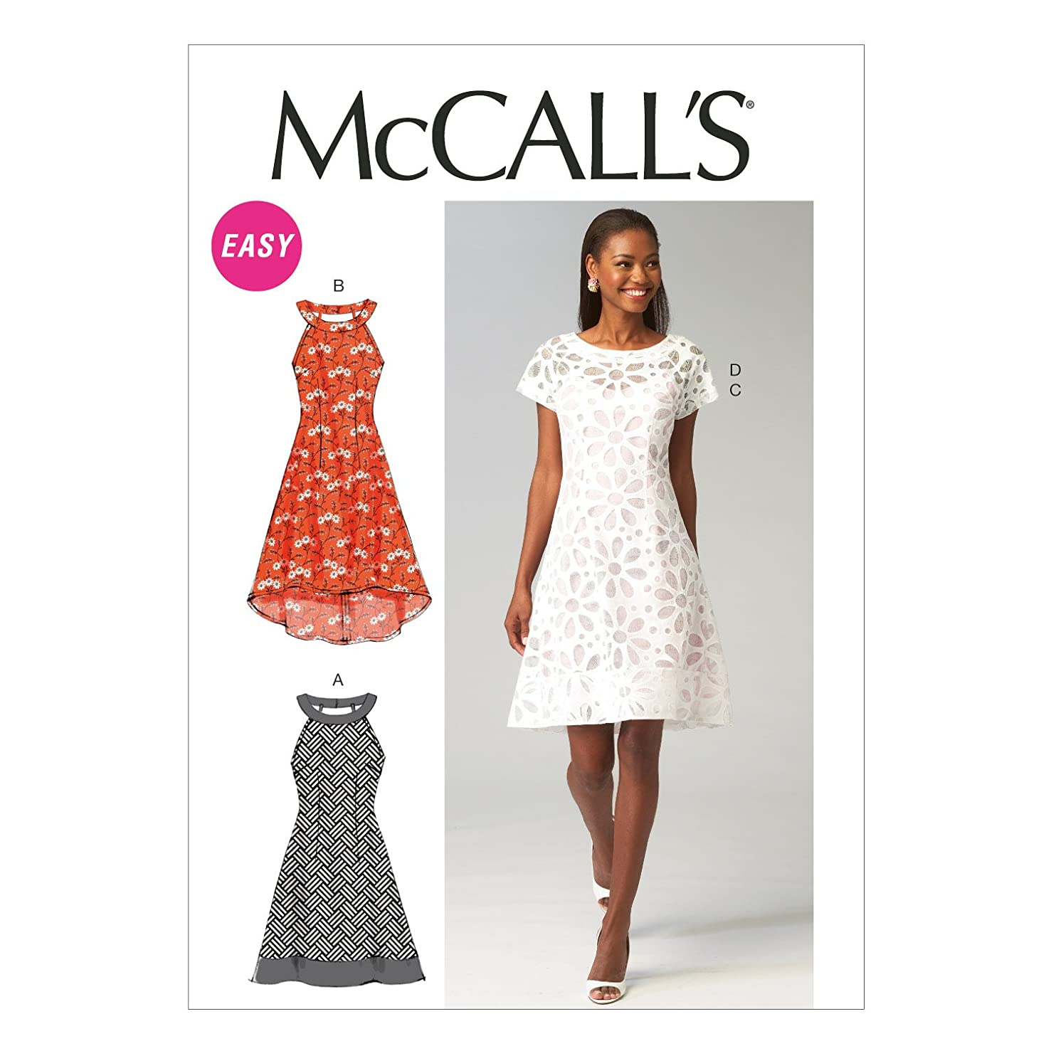 McCall Pattern Company M6883 Misses' Dresses and Slip Sewing Template, Size E5 (14-16-18-20-22)