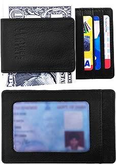 Money Clip Wallet Slim RFID Blocking Minimalist Front Pocket Wallet for Men with Magnetic Money Clip