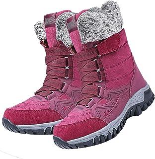 Bottes De Neige pour Dames, Plus des Bottes De Coton Épais en Velours, Chaussures De Randonnée en Plein Air d'hiver Antidé...