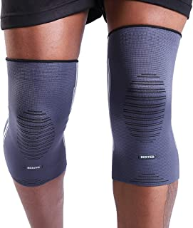 BERTER Knee Compression Sleeve Support for Running, Jogging, Sports - Brace for Joint Pain Relief, Arthritis and Injury Recovery - A Pair