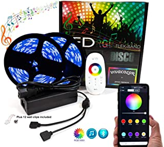 RGB and White RGBW Light Strip x 32.8 feet, 10m 600 LEDs, bluetooth APP control, waterproof, music sync color changing,dimming, 5050, for inside & out. Includes RF remote