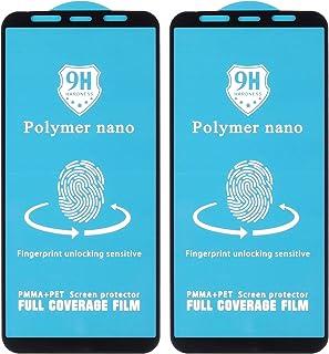 شاشة حماية نانو بوليمر 9H لموبايل ريلمي X من دراجون، 6.5 بوصة، قطعتين - اسود