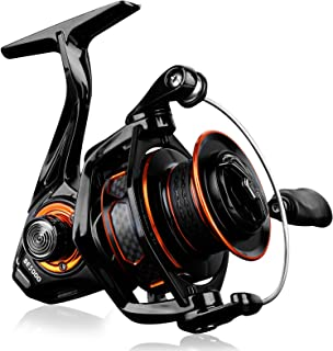 PLUSINNO Fishing Reel - 5.1:1 - 5.7:1 High Speed Spinning Reel, Premium Drag System with 22 - 30 LB Max Drag, 9+1BB, Lightweight Ultra Smooth Spinning Reels for Freshwater and Saltwater Fishing