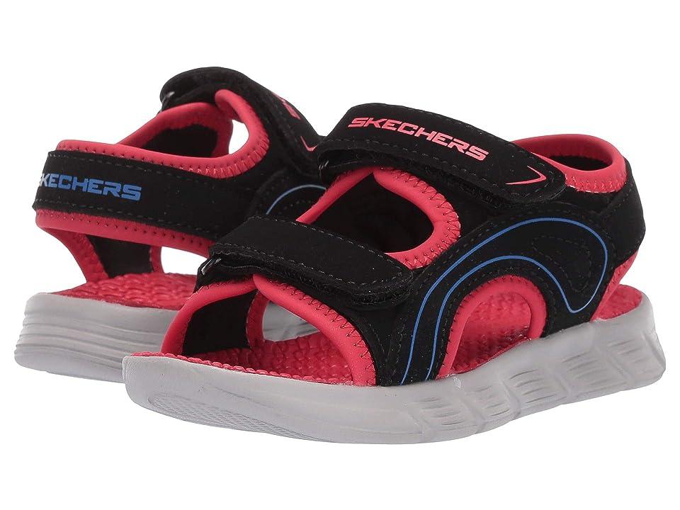 SKECHERS KIDS C-Flex Sandal River Rays (Toddler) (Black/Red) Boys Shoes