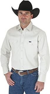 Wrangler Men's Authentic Cowboy Cut Work Western Long-Sleeve Firm Finish