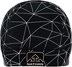Nathan Reflective Beanie Hat. Pony Tail Option Available. Lightweight, Stretch, Breathable. for Running, Outdoor Activities and Sports. Men and Women