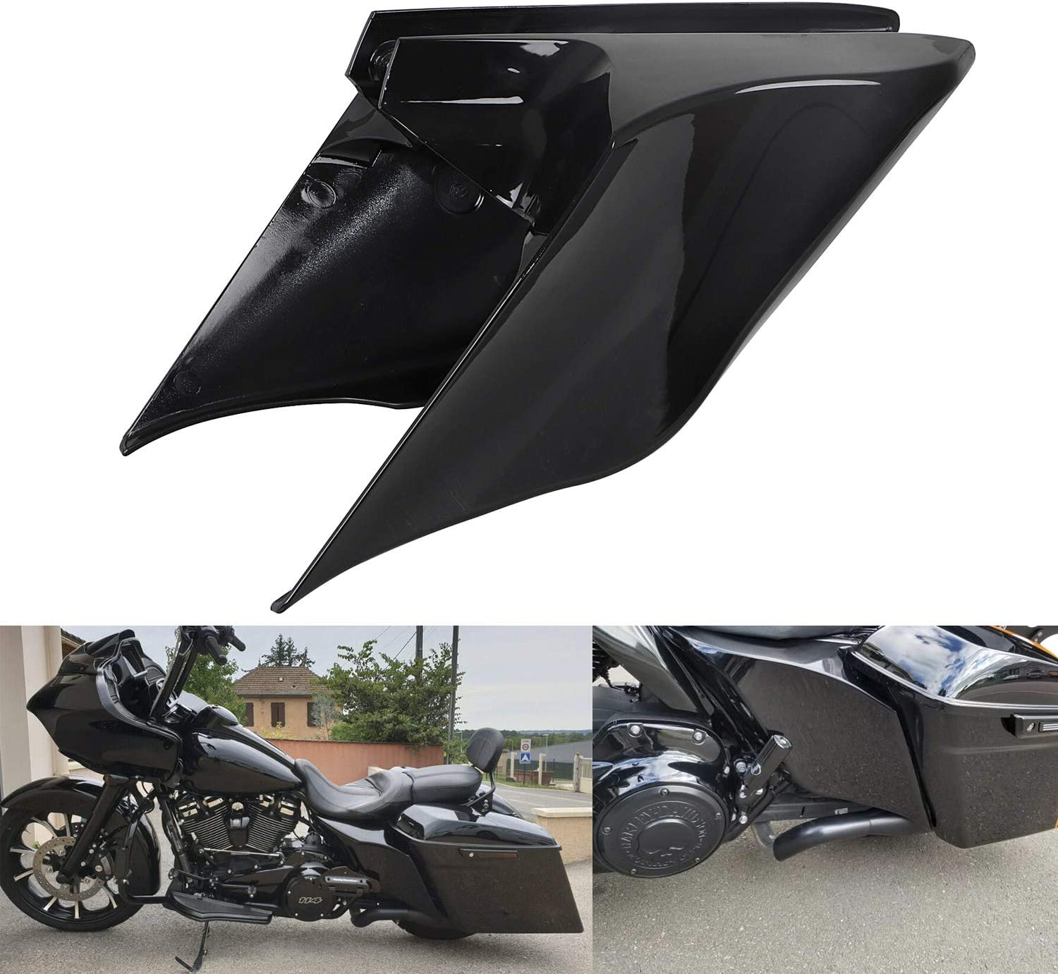 XMMT Gloss Vivid Black Stretched Panels Cover Extended Price reduction Comp Side Milwaukee Mall