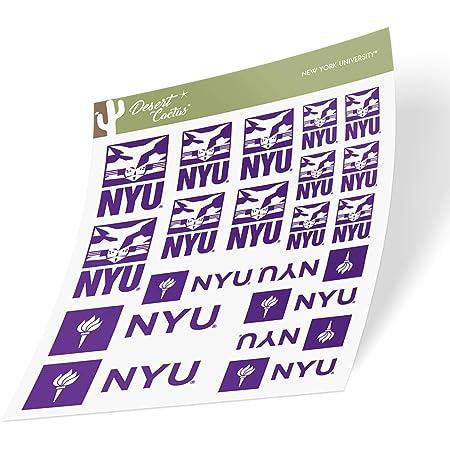 8 Inch Sticker New York University NYU Violets NCAA Name Logo Vinyl Decal Laptop Water Bottle Car Scrapbook