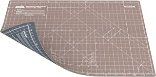 ANSIO Craft Cutting Mat Self Healing A3 Double Sided 5 Layers - Quilting, Sewing, Scrapbooking, Fabric & Papercraft - Imperial / Metric 17 Inch x 11 Inch / 42cm x 27cm - Brown / Grey