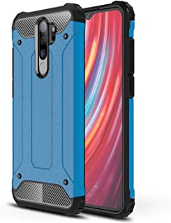 Microsonic 21858 Xiaomi Redmi Note 8 Pro Kılıf Rugged Armor Mavi
