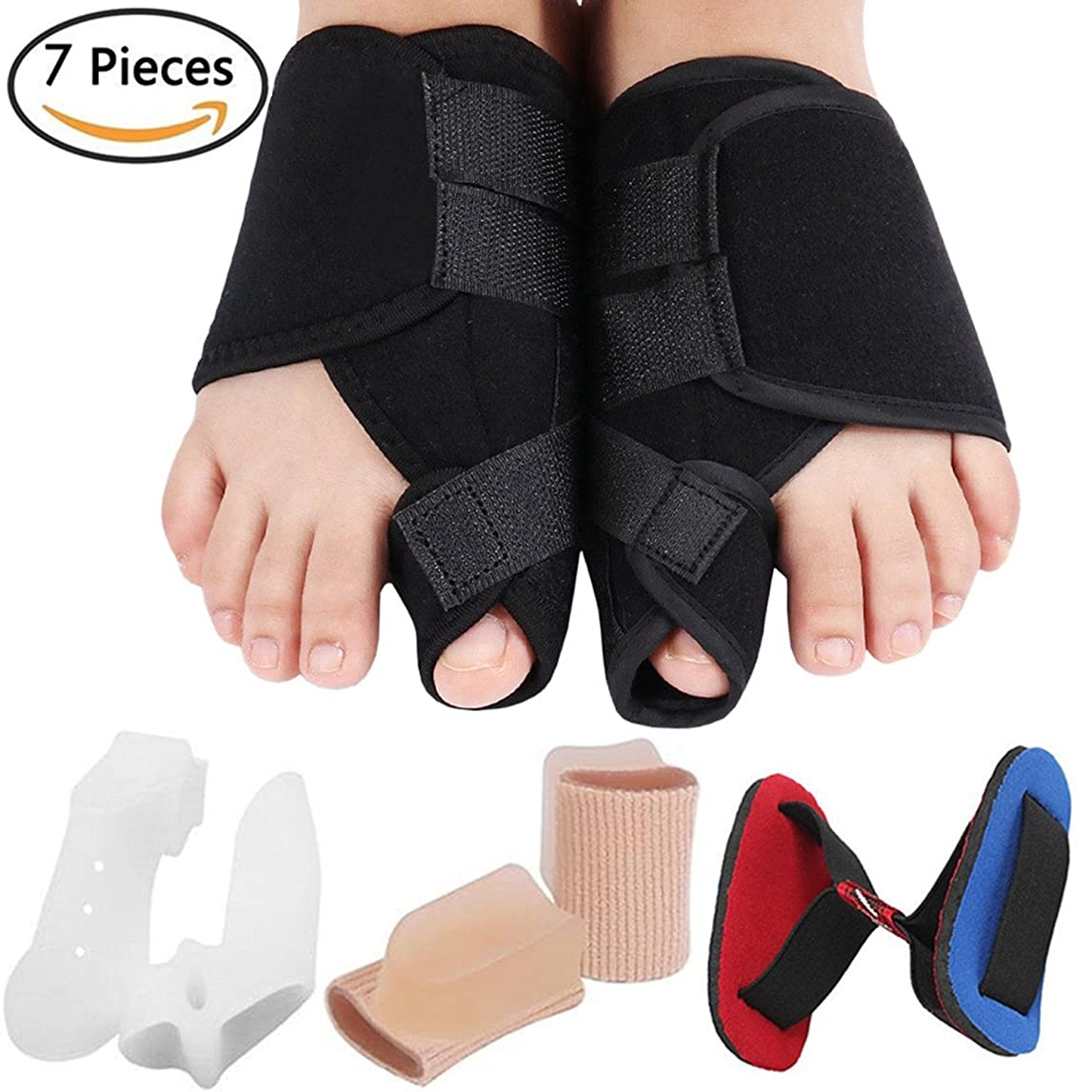劣る物理学者教育学Bunion Corrector Bunion Relief Kit, Bunion Splint Toe Straightener Corrector for Hallux Valgus, Big Toe Joint, Hammer Toes, Splint Aid Surgery Treatment for Women and Men