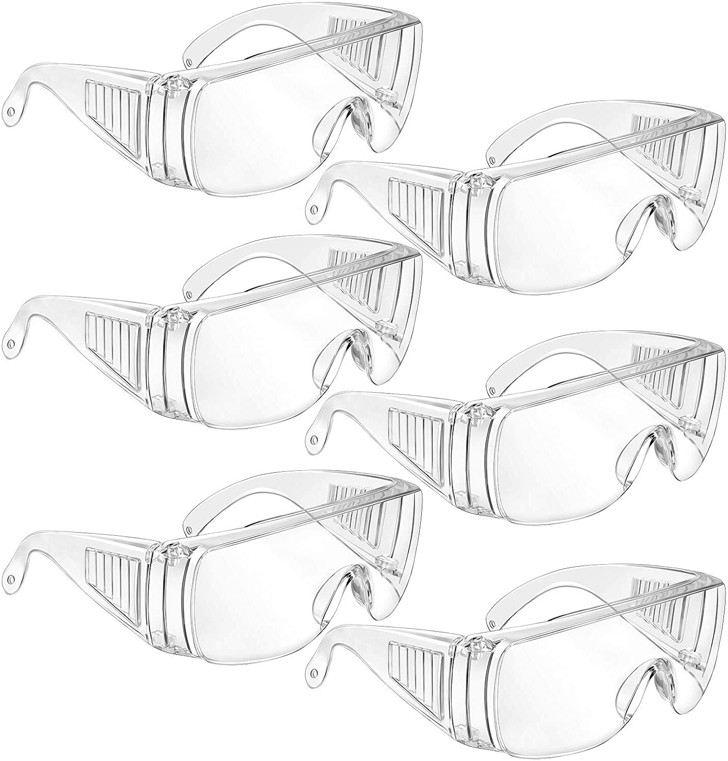 6 Pairs Clear Safety Glasses Over Our shop OFFers the best service Scr fog Limited time sale Anti- Goggles