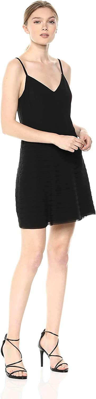 Ali & Jay Womens Elevated Sleeveless Fit & Flare Ruffle Mini Party Dress Dress