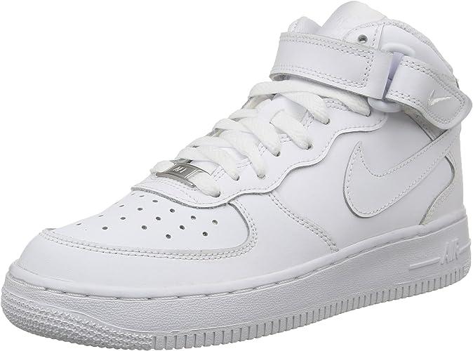 Nike Air Force 1 Mid (GS), Chaussures de Basketball Mixte Enfant