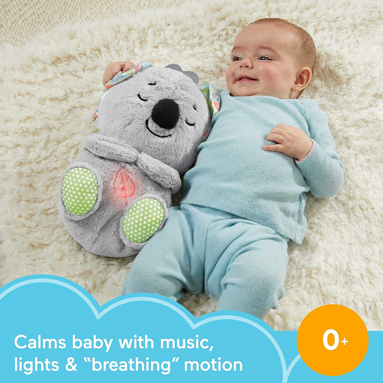 Fisher-Price Soothe 'n Snuggle Koala - Calms baby with music, Lights, and breathing motion