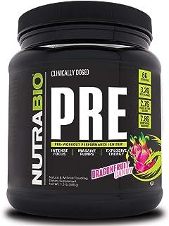 NutraBio PRE Workout V5 - Dragonfruit Candy