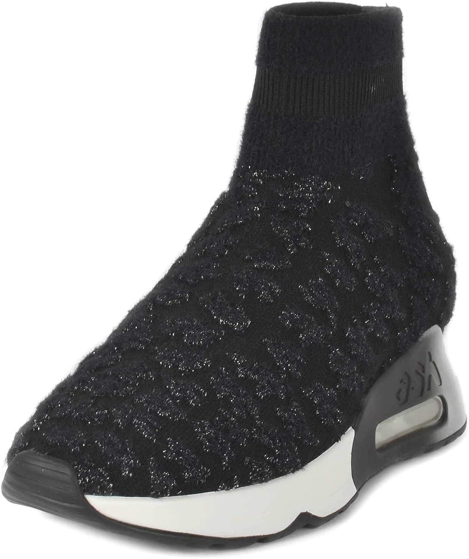 ASH Footwear Lullaby Schwarze und und Silberne Turnschuhe für Damen  das beste Online-Shop-Angebot