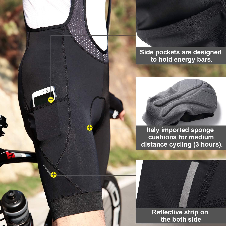 Santic Culote Bicicleta Hombre Culotte Ciclismo Hombre Culote MTB Pantalones Cortos Ciclismo Hombre Negro Move on