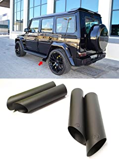 W463 G Wagon Brabus Style Stainless Steel Exhaust Pipe Tips – Black Matte Metal End Pipes –for G-Class W463 Mercedes-Benz – 4 pcs set