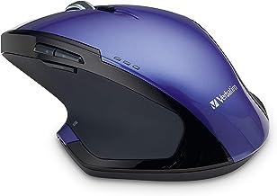 Verbatim Wireless Desktop 8-Button Deluxe Mouse – Ergonomic, Blue LED, Portable..