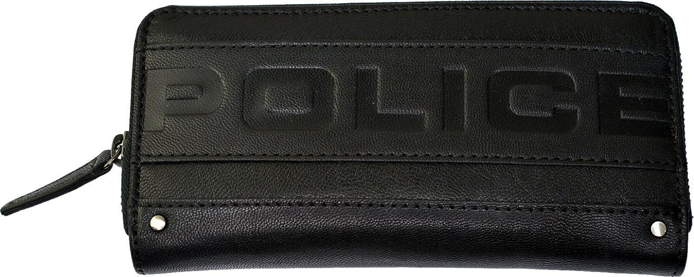 自体そこからベーシック(ポリス) POLICE METRO(メトロ) 山羊革 ラウンドファスナー長財布 PA-58102