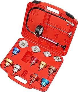 JIFETOR Radiator Pressure Leakage Tester Tool Kit, 14PCS Automotive Cooling System Water Tank Leak Test Detector Set with ...