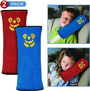 KOAZLY Car Seat Belt Pillow for Kids - Premium Seat Belt Pillow Vehicle Shoulder Pads Headrest Neck Support Car Pillow for Kids, Safety Belt Covers Protector Cushion, Adjuster Travel Pillow - 2 Pack