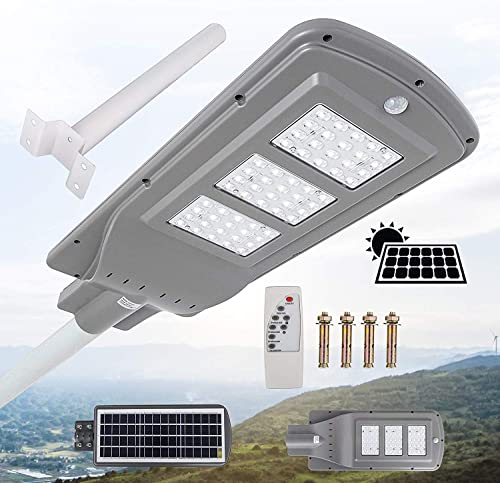 new arrival Mophorn 60W Solar Street Light LED Street Light with Remote Controller LED Solar Street Light Waterproof LED Radar Sensor high quality Street Lamp popular for Outdoor Applications outlet sale