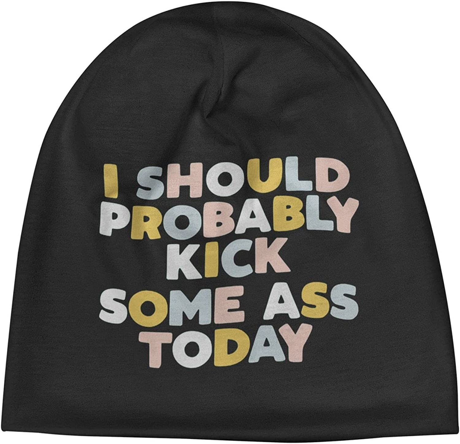 I Should Probably Gifts half Kick Some Ass Unisex Beanie Cap Today4 Slogan