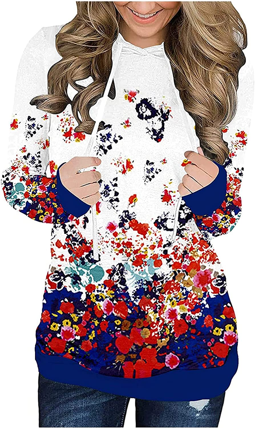 GERsome Women's 3D Graphic Hoodie Shirts Flowers Butterflies Printing Loose Casual Sweatshirt Fashion Long Sleeve Pullover