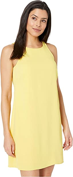 Sleek Crepe Paland Sleeveless Day Dress