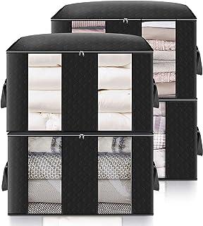 king do way sac de rangement pour vêtement, 60*40*35cm grand sac de rangement sous lit, grande capacité, pliable, pour cou...
