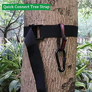 Boaton Hunting Tree Stand Strap, Quick Connect Strap with Safety Belt, Tree Climbing Strap, Tree Stand Accessories